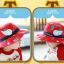 HT495••หมวกเด็ก•• / หมวกปีกกว้าง-บอลลูน (สีแดง) thumbnail 2