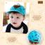 หมวกแก๊ป หมวกเด็กแบบมีปีกด้านหน้า ลายหมีสกรีนสามเหลี่ยม (มี 4 สี) thumbnail 9