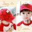หมวกแก๊ป หมวกเด็กแบบมีปีกด้านหน้า ลายหมีสกรีนสามเหลี่ยม (มี 4 สี) thumbnail 4