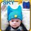 HT263••หมวกเด็ก•• / แมวเหมียว [สีน้ำเงิน] thumbnail 3