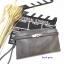 กระเป๋าคลัช แฟชั่นสไตล์ Hermes Clutch bag Snake skin หนังสวยมากค่ะ มาพร้อมสายยาว 990 ส่งฟรี ems thumbnail 4