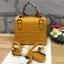 กระเป๋า Infinity Mini Croc City Bag สีเหลืองมัสตารค์ ราคา 890 บาท Free Ems thumbnail 4