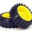 Spike Tire Set – 65mm Diameter for TAMIYA thumbnail 1