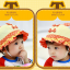 HT478••หมวกเด็ก•• / หมวกปีกกว้าง-โบว์คู่ (สีส้ม) thumbnail 2