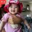 หมวกเด็กหญิง วัย 6-24 เดือน มีระบาย แต่งดอกไม้ปัก thumbnail 8