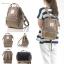 กระเป๋า Anello Nylon Mini Square สี G.Beige ราคา 1,390 บาท Free Ems thumbnail 7