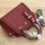 LYN Madison Bag สีแดง กระเป๋าถือหรือสะพายทรงสวย รุ่นใหม่ล่าสุด วัสดุหนัง Saffiano thumbnail 9