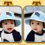 HT484••หมวกเด็ก•• / หมวกปีกกว้าง-DH (สีฟ้า) thumbnail 4