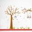 สติกเกอร์แต่งห้อง DIY การ์ตูนรูปนก กระรอก และต้นไม้ ขนาดใหญ่ ติดผนัง ลอกออกแล้วติดซ้ำได้ thumbnail 3