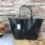 กระเป๋า MNG Shopper bag สีดำ กระเป๋าหนัง เชือกหนังผูกห้วยด้วยพู่เก๋ๆ!! จัดทรงได้ 2 แบบ thumbnail 1
