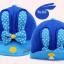 HT096••หมวกเด็ก•• / หมวกแก๊ปกระต่าย [สีน้ำเงิน] thumbnail 4