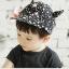 หมวกแก็ปเด็ก Devil ลายดาวสีขาวดำเท่ๆ สไตล์เด็กเกาหลี thumbnail 4