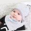 เซตหมวก+ผ้าซับน้ำลาย / ลาย Lovely Baby (มี 6 สี) thumbnail 14
