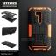 """เคส Zenfone GO 5.5"""" (ZB551KL DTAC Edition เท่านั้น) เคสบั๊มเปอร์ Defender กันกระแทก มีขาตั้งในตัว สีส้ม thumbnail 2"""