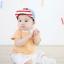 หมวกแก๊ป หมวกเด็กแบบมีปีกด้านหน้า ลายตัวอักษร H (มี 2 สี) thumbnail 5