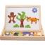 ของเล่นไม้ กระดานแม่เหล็กต่อภาพ 2 หน้า Animal Magnetic Puzzle thumbnail 4
