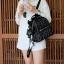 KEEP genuine Leather Mini Chic Backpack Classy Black #ใบนี้หนังแท้เลยค่ะ thumbnail 9