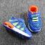 รองเท้าเด็กวัยหัดเดิน ทรง Sport คัทชูทรงเท่สีฟ้าส้ม (เท้ายาว 12-14 ซม.) thumbnail 8