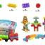 ของเล่นบล็อคตัวต่อเลโก้ชิ้นใหญ่สำหรับเด็กเล็กวัย 2-5 ปี แบบถังหิ้ว 180 ชิ้น thumbnail 5