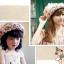 หมวกปีกสาน สไตล์เกาหลี ประดับดอกไม้ผ้าสวยหวานน่ารัก thumbnail 3