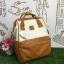 กระเป๋าเป้ Anello Polyester Canvas Rucksack Classic สีขาว- วัสดุผ้าแคนวาสอย่างดี รุ่นคลาสสิกพิเศษมีซิปด้านหลัง thumbnail 1