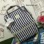กระเป๋า Anello Casual Fabric Square Shaped Rucksack Stripe Navy Blue thumbnail 2