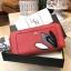 NEW! LYN Long Wallet กระเป๋าสตางค์ใบยาวซิปรอบรุ่นใหม่ล่าสุดวัสดุหนัง Saffiano สวยหรูสไตล์ PRADA ด้านหน้าประดับลายใบไม้ดูมีดีเทล thumbnail 16