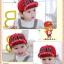 หมวกแก๊ป หมวกเด็กแบบมีปีกด้านหน้า ลาย P.DAW (มี 4 สี) thumbnail 2