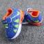 รองเท้าเด็กวัยหัดเดิน ทรง Sport คัทชูทรงเท่สีฟ้าส้ม (เท้ายาว 12-14 ซม.) thumbnail 5