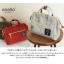 กระเป๋า Anello 2 Way Mini Boston Bag Light Grey สะพายข้างลำตัว thumbnail 4