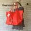 กระเป๋า MNG Shopper bag สีแดง กระเป๋าหนัง เชือกหนังผูกห้วยด้วยพู่เก๋ๆ!! จัดทรงได้ 2 แบบ thumbnail 6