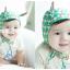 HT211••หมวกเด็ก•• / [สีเขียว] หมวกนักบินลายสามเหลี่ยม thumbnail 2