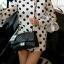 กระเป๋า KEEP shoulder chevon chain handbag สีดำ สวย หรู มากๆ เลยน๊า กระเป๋าอยู่ทรง #หนังแกะนิ่มมากคะ สายโซ่สะพายสบายคะ สายปรับ สั้น ยาวได้คะ ภายในสีแดง มีช่องใส่ของจุกจิกหลายช่องแบ่งเก็บของเป็นสัดส่วนมากๆคะ #ใบจริงสวยมาก เข้ากับชุดได้ง thumbnail 10