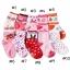 ถุงเท้าเด็กเล็ก หญิง 1-3 ปี มีกันลื่น พิมพ์ลายการ์ตูน แบรนด์ญี่ปุ่น thumbnail 4
