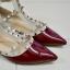 รองเท้าส้นแบนไซส์ใหญ่ วาเลนติโน Valentino Style สีไวนแดง ไซส์ 45 รุ่น KR0399 thumbnail 7