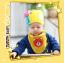 AP108••เซตหมวก+ผ้ากันเปื้อน•• / [สีเหลือง] น้องหมี thumbnail 1