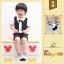 SK014••ถุงเท้าเด็ก•• โบว์ดำ (พื้นดำ-ข้อสั้น) thumbnail 1