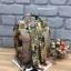 กระเป๋าเป้ Anello x Legato Largo ; Botanical & Cat nylon Cap fasteners Backpack Beige Button thumbnail 3