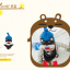AP179••เซตหมวก+ผ้ากันเปื้อน•• / หมี [สีน้ำตาล+ฟ้า] thumbnail 5