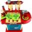 ของเล่นชุดเคาน์เตอร์ครัวมินิ พร้อมอุปกรณ์ทำอาหารสำหรับคุณหนูครบเซต สีแดงสไตล์โมเดิร์น thumbnail 4