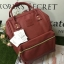 กระเป๋าเป้ Anello polyurethane leather rucksack Red Wine Mini thumbnail 2
