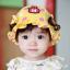 หมวกเด็กปีกกว้าง หมวกซันเดย์ ประดับปอยผม ลายกระต่ายน้อย (มี 3 สี) thumbnail 2