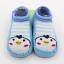 ถุงเท้ารองเท้า มีกันลื่น เนื้อผ้านุ่มนิ่ม สำหรับเด็กวัย 6-12m/12-18m ลายเพนกวินสีฟ้า thumbnail 1