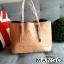 กระเป๋า Mango รุ่น Tote Bag กระเป๋าคล้องแขน หนัง Saffiano แบบ Hi-End ยี่ห้อ ดีไซน์เก๋ thumbnail 3