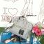 กระเป๋า Anello 2 Way Mini Boston Bag Light Grey สะพายข้างลำตัว thumbnail 5