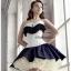 คอร์เซ็ท Corset สีขาว แต่งระบายสีดำ น่ารักคุณหนู ไฮโซสุดๆ !!! thumbnail 2