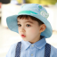 HT496••หมวกเด็ก•• / หมวกปีกกว้าง-บอลลูน (สีฟ้า) thumbnail 1