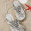 รองเท้าแตะหูหนีบไซส์เล็ก Desy Flower สีเทา KR0256 thumbnail 9