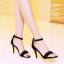 รองเท้าส้นสูงไซส์ใหญ่ ไซส์ 40 Suede Single-hued Strappy รุ่น KR0489 thumbnail 6