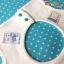 ผ้าซับน้ำลายเด็ก ผ้ากันเปื้อนเด็กเล็ก แบบ 360 องศา ปลายหยักโค้ง / ลายดอกไม้ดอกเล็ก (มี 2 สี) thumbnail 5